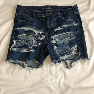 Custom Distressed Shorts